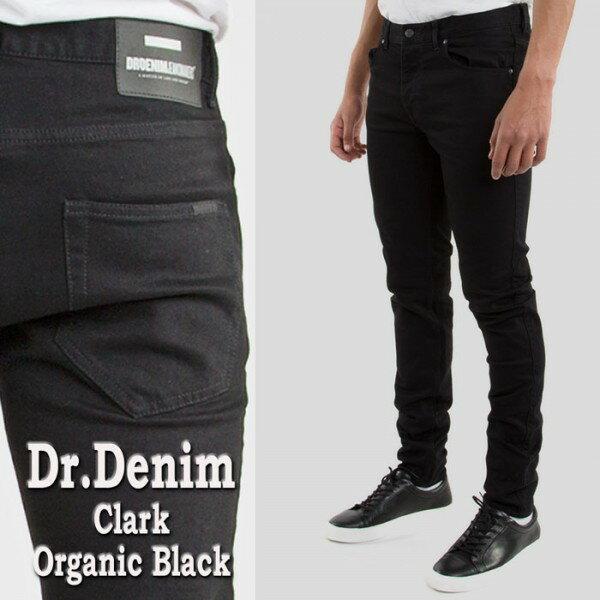 スキニーパンツ dr.denim(ドクターデニム)CLARK テイパード スキニージーンズ jeansブラック スキニー デニム メンズ スリム スキニー パンツ ロック パンク ファッション スリムパンツ ブラック DR,DENIM 黒 スキニー デニム メンズ ジーンズ ロック系 モード系