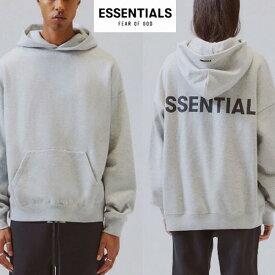 fog essential(エッセンシャルズ)Fear of God (フィアオブゴッド)パーカー グレー スウェット オーバーサイズ フーディー トップス パンク ロック ストリートファッション モード系 おしゃれ かっこいい fog essentials