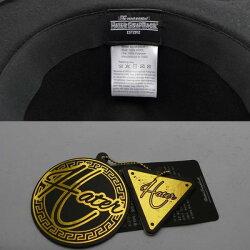 HATERSNAPBACK(ヘイタースナップバック)フェルトポークパイハットカンカン帽メタルプレートブリティッシュロックファッションストリート