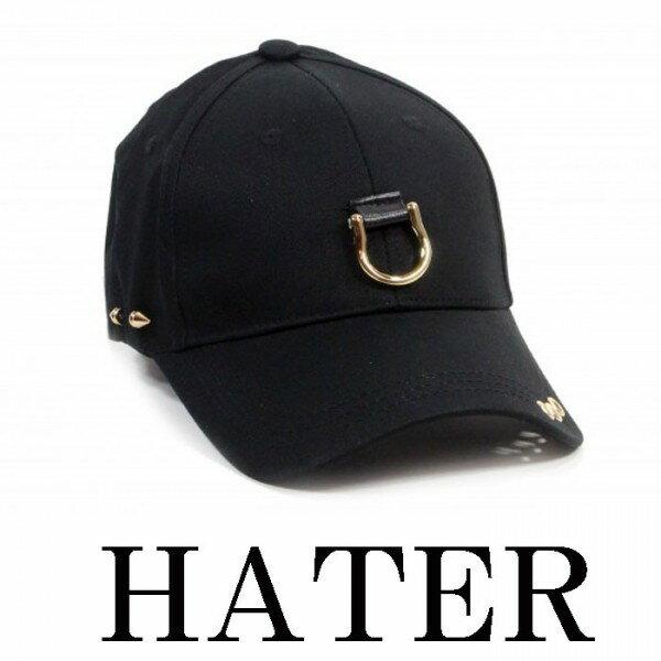 ピアス リング cap(キャップ) HATER(ヘイター)メタル ヘビメタ メンズ ベースボールキャップ(パンク ロック ファッション ストリート) 帽子 かっこいい ユニセックス レディース モード系 お揃い ペアルック ロック系 パンク系