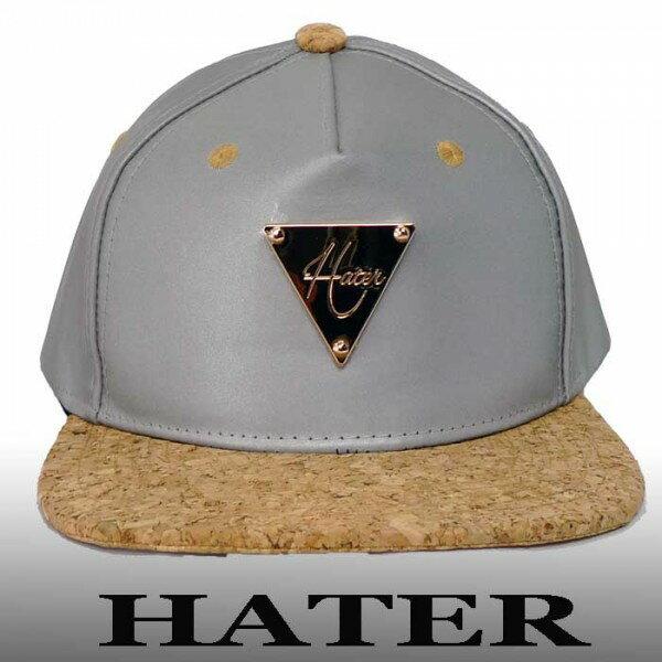 ベースボール キャップ HATER ヘイタースナップバック シルバー×コルク キャップ メンズ パンク ロック ストリート ブランド ファッション ニットキャップ ファッション 帽子 ぼうし かっこいい ユニセックス レディース カップル お揃い ペアルック