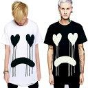 ビックtシャツ ロングクロージング long clothing DRIPPY Tシャツ 2カラー 黒 白パンク ロック ファッション ロックtシャツ バンドtシ…