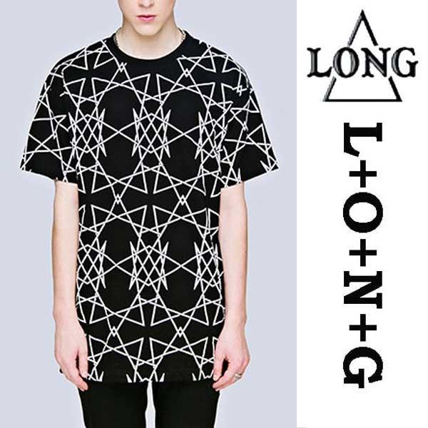 LONG CLOTHING ロングクロージング グラフィック総柄Tシャツ ロック パンク ロックtシャツ バンドtシャツ ユニセックス BOY LONDON ボーイロンドン(トップス メンズ レディース ビッグtシャツ 服 半袖 黒 かっこいい ボーイロンドン)