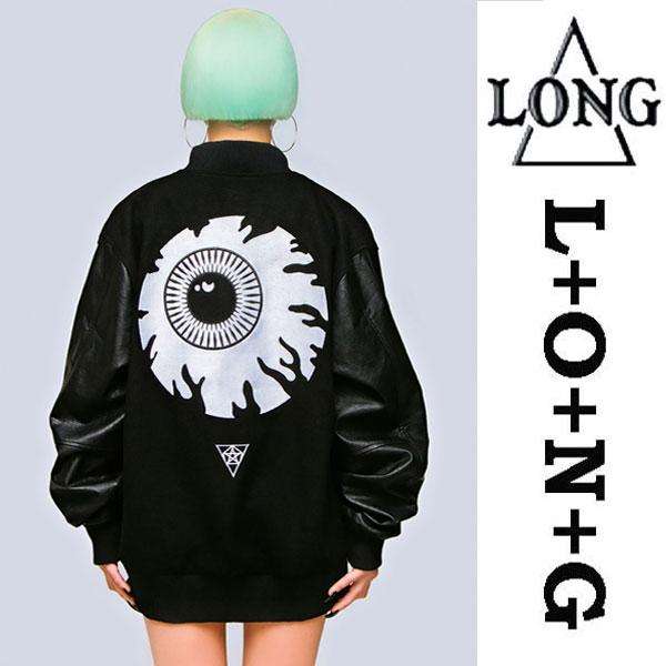 LONG CLOTHING ロングクロージング MISHKA ミシカ コラボ スタジャン MA-1 ロック パンク ファッション ユニセックス BOY LONDON ボーイロンドン ビックシルエット スタジアムジャケット ミリタリージャケット ストリート モード系 アウター メンズ レディース)