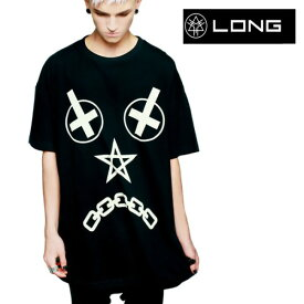 LONG CLOTHING ロングクロージング vex オーバーサイズ Tシャツ VEX-Tシャツ パンク ロック ファッション ロックtシャツ バンドtシャツ BOYLONDON ボーイロンドン メンズ レディース ビッグティーシャツ ロング丈 男女兼用 夏コーデ