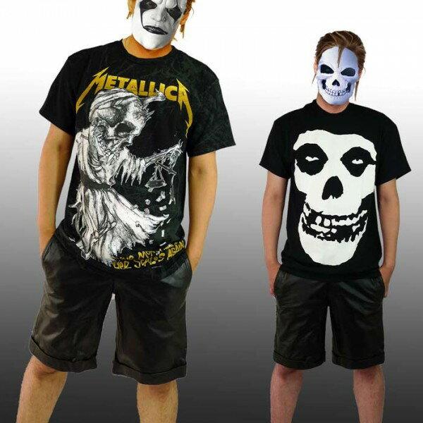 ご存知、Metallica&Misfits(メタリカ・ミスフィッツ)ロックTシャツどちらも欲しい2アイテム!パンクファッション,バンドtシャツ,パンク系,ラウド系,ハードコア,メタル系,コンサートt(メンズ 半袖 黒 ブラック スカル ミスフィッツtシャツ おしゃれ)