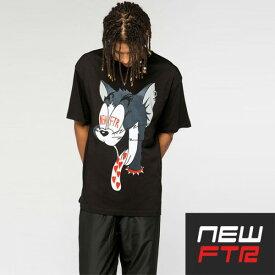 ビックtシャツ NEW FUTURE LONDON(ニューフューチャーロンドン) キャット 猫 tシャツ LONG CLOTHING ロングクロージング ロック パンク ストリート ファッション ロックtシャツ ユニセックス BOYLONDON ボーイロンドン メンズ レディース 半袖 ブラック 黒 夏コーデ