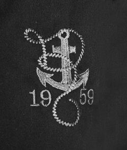 ボウリングシャツ(ボーリングシャツ)開襟シャツ半袖碇刺繍ホワイトオープンカラーメンズシャツrumble59ロカビリーオープンネックレトロシャツロックシャツWADロックな服装ストリート(ロックパンクファッションフェスコットンシャツロック系50s