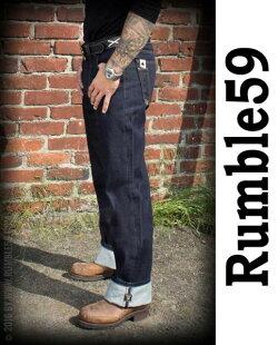 rumble5914オンスオリジナル櫛付デニム