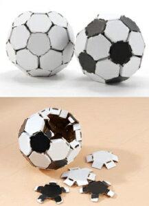 サッカーボール型ダンボールパズル(ダンボールインテリア)1個fugetsu-08