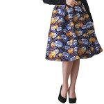リボンプリントタックフレアスカート花柄ジャカードタックフレアスカート