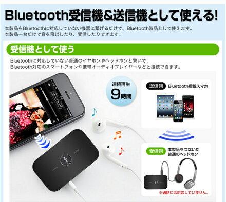【Bluetooth4.1トランスミッターレシーバー】Bluetooth受信機+送信機2-イン-1アダプターBluetoothレシーバーbluetoothトランスミッターオーディオレシーバーbluetoothオーディオ機器を無線化!AUXポート搭載/A2DP技術搭載車載用、オーディオ、スマホ、
