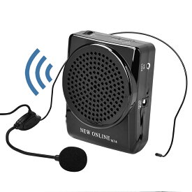 ポータブル拡声器 小型 ハンズフリー 拡声器 20W イベント、講演、説明会などに最適 マイク付きスピーカー スピーカー付きマイク 屋外 ストラップクリップ両対応 送料無料 メール便配送不可