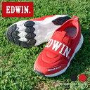 【送料無料】エドウィン 軽量 スリッポン キッズ 男の子 子供靴 ジュニア 運動靴 サイドゴア 履きやすい 歩きやすい …