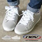 【送料無料】NEVSURF軽量ローカットスニーカーレディース白ウォーキングシューズおしゃれレディース通勤通学歩きやすい履きやすいおしゃれかわいい軽いシンプルスニーカーパンチングジュニア女の子カジュアルグレーホワイトnev-640