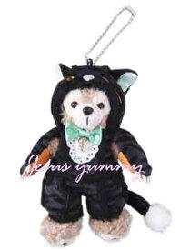 【SALE】 ぬいぐるみバッジ ダッフィー ぬいぐるみバッジ ハロウィーン ハロウィン 2014 黒猫 衣装 ディズニーシー限定 お土産袋付き!【DISNEY】