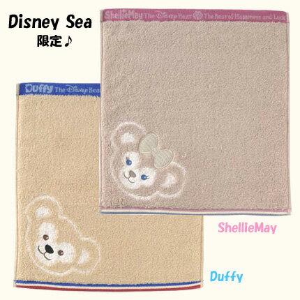 【ディズニーシー限定】ウォッシュタオル♪Duffy(ダッフィー)/ShellieMay(シェリーメイ)♪柔らかな肌触り!日本製!ディズニーリゾートお土産袋付き♪【クロネコDM便対応】
