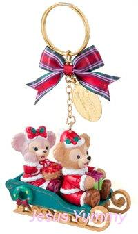 ダッフィー&シェリーメイ クリスマス キーチェーン キーホルダー Christmas2016スペシャルグッズ ダッフィーのクリスマス2016 X'mas ディズニーシー限定 お土産袋つき【DISNEY】