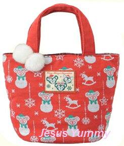 ダッフィー クリスマス トートバッグ シェリーメイ ジェラトーニ Christmas2016スペシャルグッズ ダッフィーのクリスマス2016 X'mas ディズニーシー限定 お土産袋つき【DISNEY】