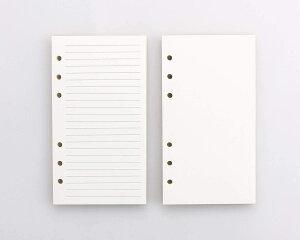 ROTERDON システム手帳 リフィル A6サイズ2冊入 カラーインデックス リフター付け 横罫 クリーム バインダー