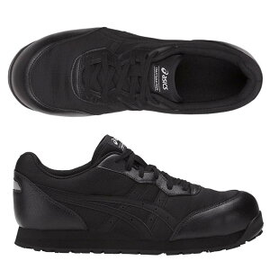 【送料無料】[アシックス] 安全靴 ウィンジョブ CP201 作業靴 シューレースタイプ FCP201 asics 安全スニーカー シューレースタイプ ブラック×ブラック スニーカー 21.5cm