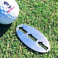 ゴルフマーカーゴルフグリーンマーカーゴルフラインマーカーステンレスグリーンマーカー矢印付グリーンマーカーゴルフコンペ景品父の日プレゼントクリスマスプレゼント記念日プレゼント