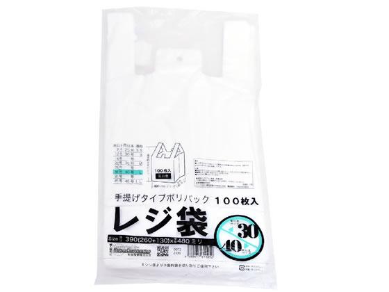 紺屋商事/規格レジ袋(乳白) 30号 100枚/00722130