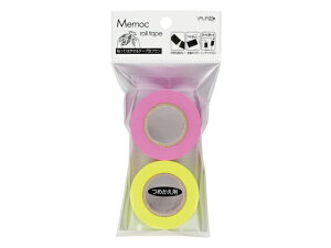 ヤマト/メモック・ロールテープ蛍光 詰替用 ローズ+レモン2個/WR-25H-6A