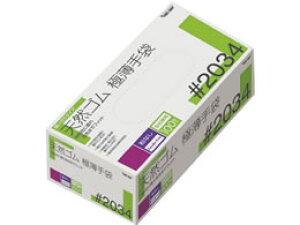 川西工業/天然ゴム使いきり極薄手袋 粉無 M 100枚