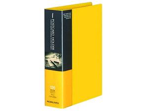 コクヨ/キャンパス ポストカードホルダー固定式 A6 60ポケット 黄