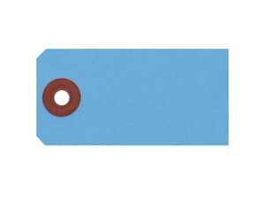 ゴークラ/カラー豆荷札 針金荷札 ブルー 2000枚/ニ-C10