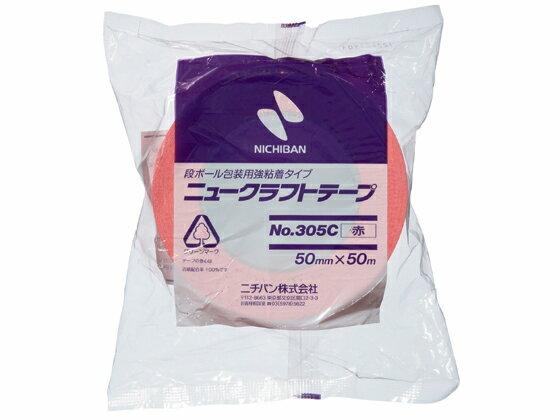 ニチバン/ニュークラフトテープ 赤 50mm×50m/No.305C