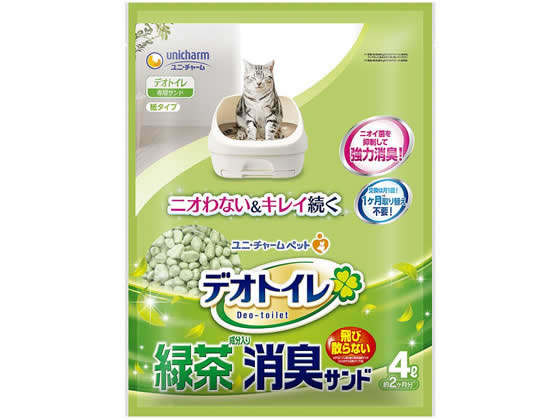 ユニチャーム/抗菌デオトイレ飛び散らない緑茶成分入消臭サンド 4L