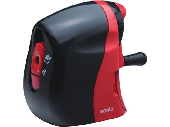 ソニック/かるハーフ 手動鉛筆削り 黒赤/SK-802-R