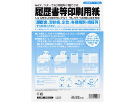 日本法令/履歴書等印刷専用紙 A3 10枚/労務12-41