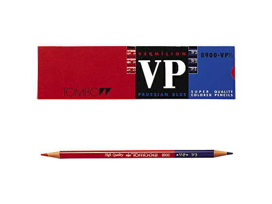トンボ鉛筆/赤青鉛筆 8900VP 7/3(朱藍)/8900-VP7/3