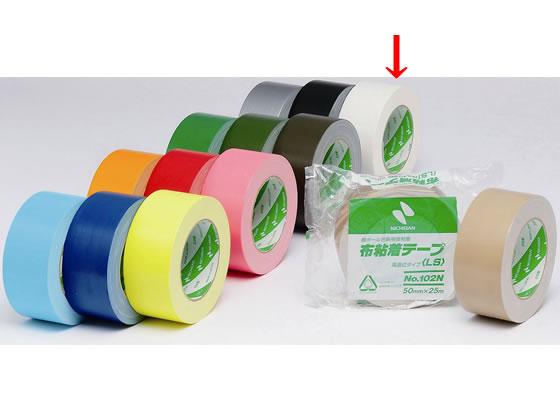 ニチバン/布粘着テープ 50mm*25m 白/102N5-50
