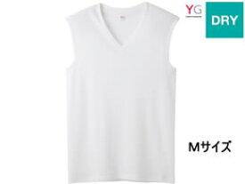 GUNZE/YG DRY Vネックスリーブレスシャツ ホワイトM 1枚/YV0118N