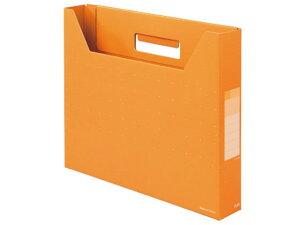 プラス/デジャヴカラーズ ボックスファイル スリム A4ヨコ ネーブルオレンジ