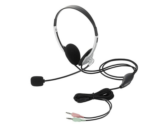 エレコム/ヘッドセット 両耳小型オーバーヘッドタイプ/HS-HP22SV