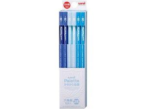 三菱/uniかきかた鉛筆 6角 2B パステルブルー 12本/K55602B