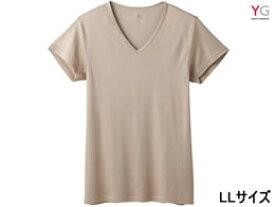 GUNZE/YG DRY VネックTシャツ クリアベージュ LL/YV0115N