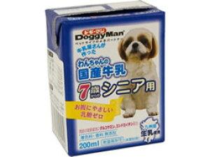 ドギーマンハヤシ/わんちゃんの国産牛乳 7歳からシニア用200ml