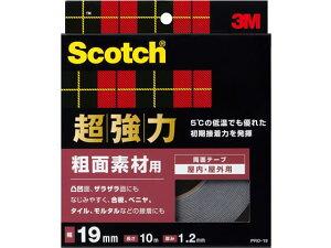 スコッチ 超強力両面テープ 粗面素材用 19mm×10m PRO-19