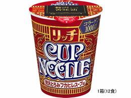 日清食品/カップヌードルリッチ贅沢とろみフカヒレスープ味78g×12食