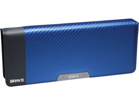 ソニック/ブレイブ 両面筆入 フラット大容量 カーボン調 ブルー