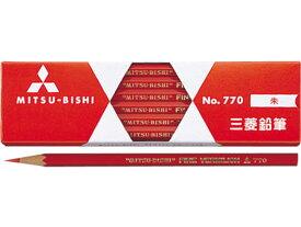 三菱鉛筆/朱通し六角 12本/K770
