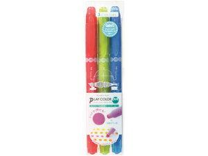 【お取り寄せ】トンボ鉛筆/水性サインペン プレイカラードット 3色パックA/GCE-311A