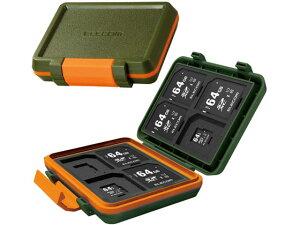 【お取り寄せ】エレコム/SD microSDカードケース 耐衝撃 /CMC-SDCHD01GN