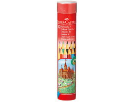 【お取り寄せ】シヤチハタ/ファーバーカステル 色鉛筆丸缶 12色セット/TFC-CPK/12C